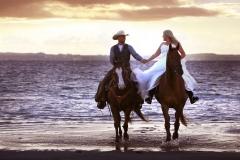 _til_hest_ridende_bryllup