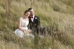 Bryllupsfoto i naturen